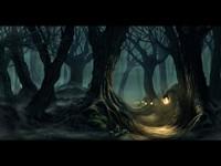 Темный и волшебный готичный лес