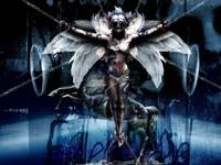 Распятие злого демона на цепях