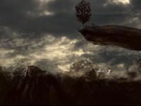 Летающий остров с деревом