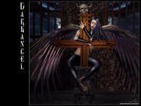 Демонесса с крыльями на кресте