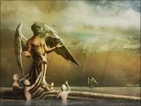 Футуристический ангел в маске