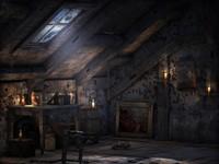 Тёмный чердак дома