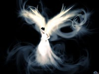 Белый образ девушки ангела
