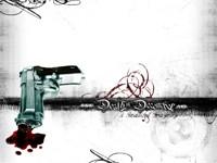 Пистолет с кровью