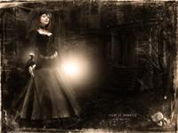 Статная госпожа с тростью и вороном