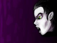 Рисованный вампир