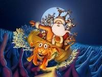 Санта-Клаус на олене