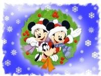 Новогодние Микки-Маусы и Плуто