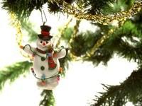 Украшение новогодний снеговик