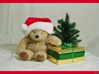 Мишка, елка и подарки