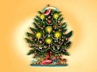 Новогодняя елка со свечами
