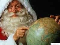 Санта и глобус