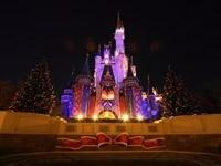 Новогодний замок Диснея