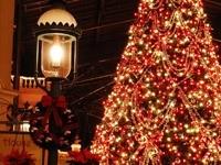 Новогодняя елка и фонарь
