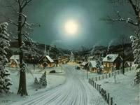 Зимняя дорога в город к елке