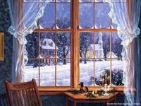 Зимний вид за окном