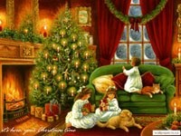 Получение подарков на Рождество