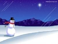 Снеговик под снегом
