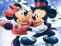Микки-Маус и Микки на коньках