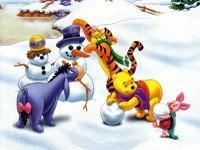 Лепят снеговиков