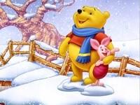 Винни-Пух с Пятачком зимой