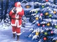 Санта несёт подарки