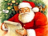 Санта читает список