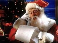 Санта читает