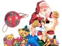 Санта и дети