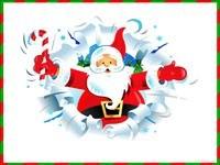 Санта с тростью