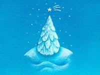 Голубая елочка со звездой