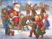 Встреча Санта-Клауса с детьми