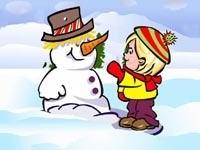 Ребенок и снеговик