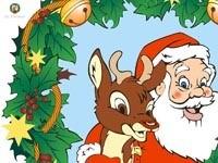 Санта и олень