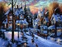 Сказочный городок зимой