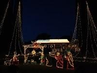 Рождество из гирлянд