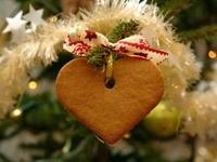 Пряник-сердечко на елке