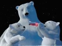 Белые медведи пьют Кока-Колу
