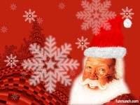 Санта со снежинками