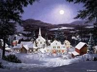 Зимний город вечером