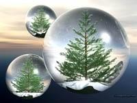 Три шара с елками