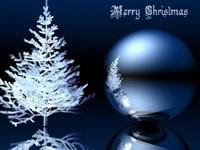 Большой шар и белая елка