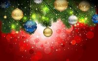 Новогодние шары на ветке