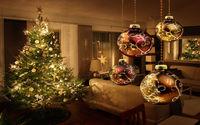 Ёлка с новогодними шарами