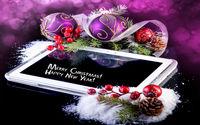 Планшет с новогодними шариками