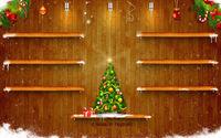 Полочки для подарков с новогодней ёлкой