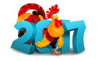 Петух на Новый год 2017