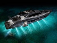 Яхта с подсветкой