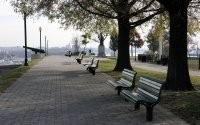 Аллея со скамейками