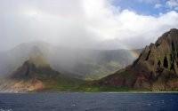 Радуга и горы